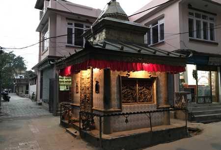 temple de rue dans le thamel